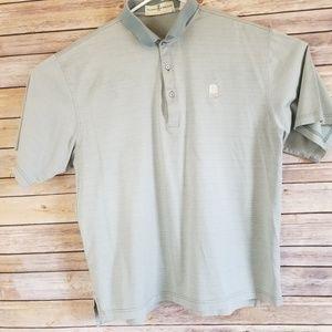 Fairway & Greene Golf Shirt L Light Green Textured